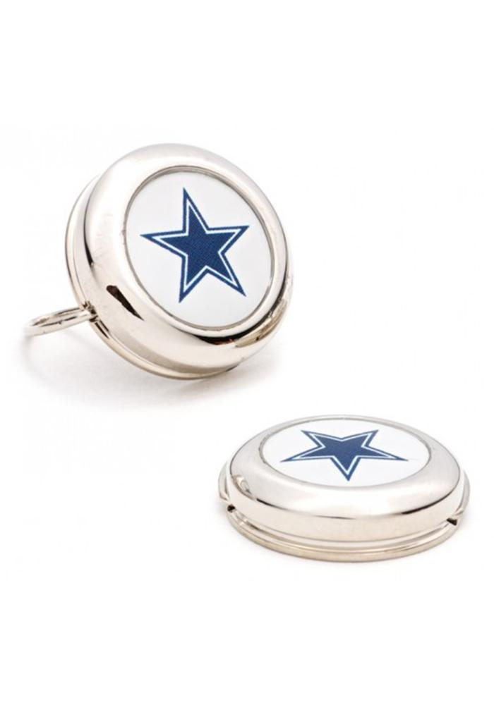 Dallas Cowboys Silver Plated Mens Cufflinks - Image 2