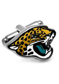 Jacksonville Jaguars Silver Plated Cufflinks - Silver
