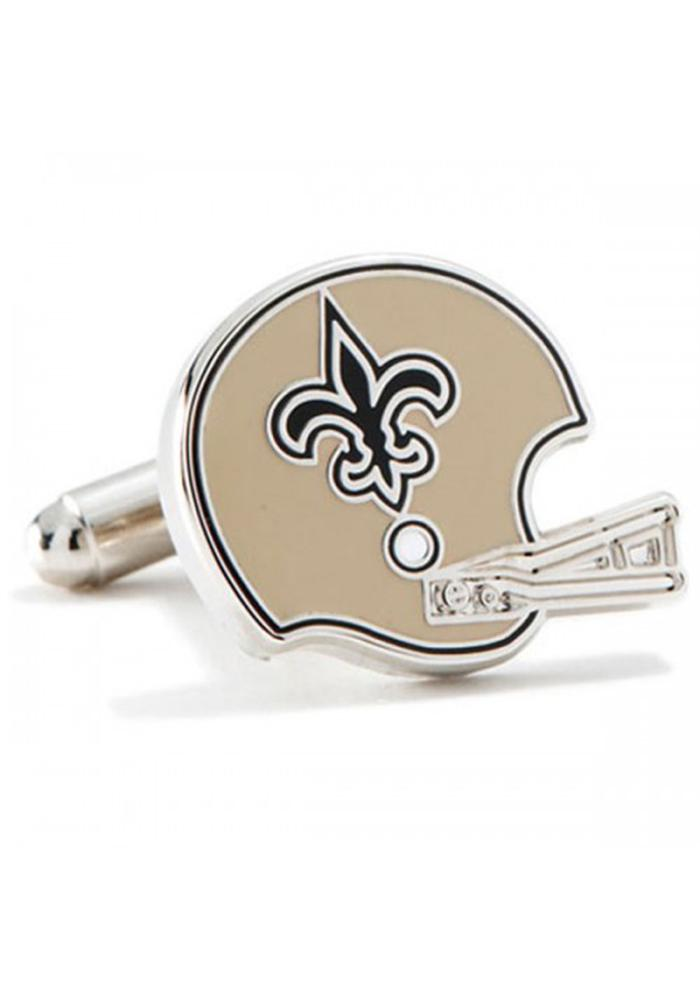 New Orleans Saints Silver Plated Mens Cufflinks - Image 1