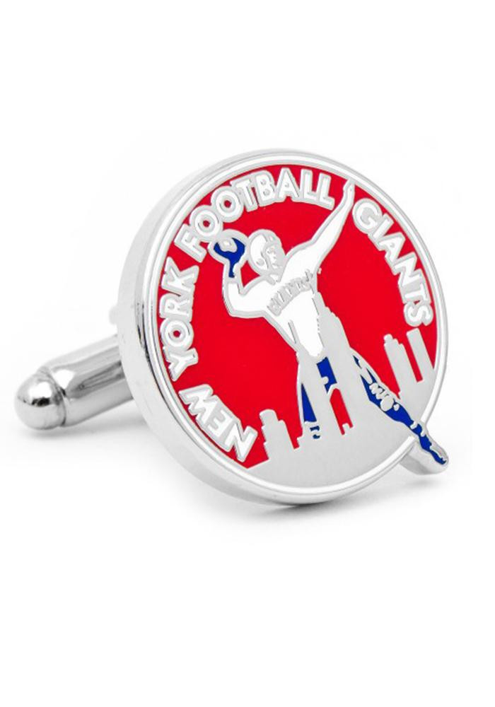New York Giants Silver Plated Mens Cufflinks - Image 2