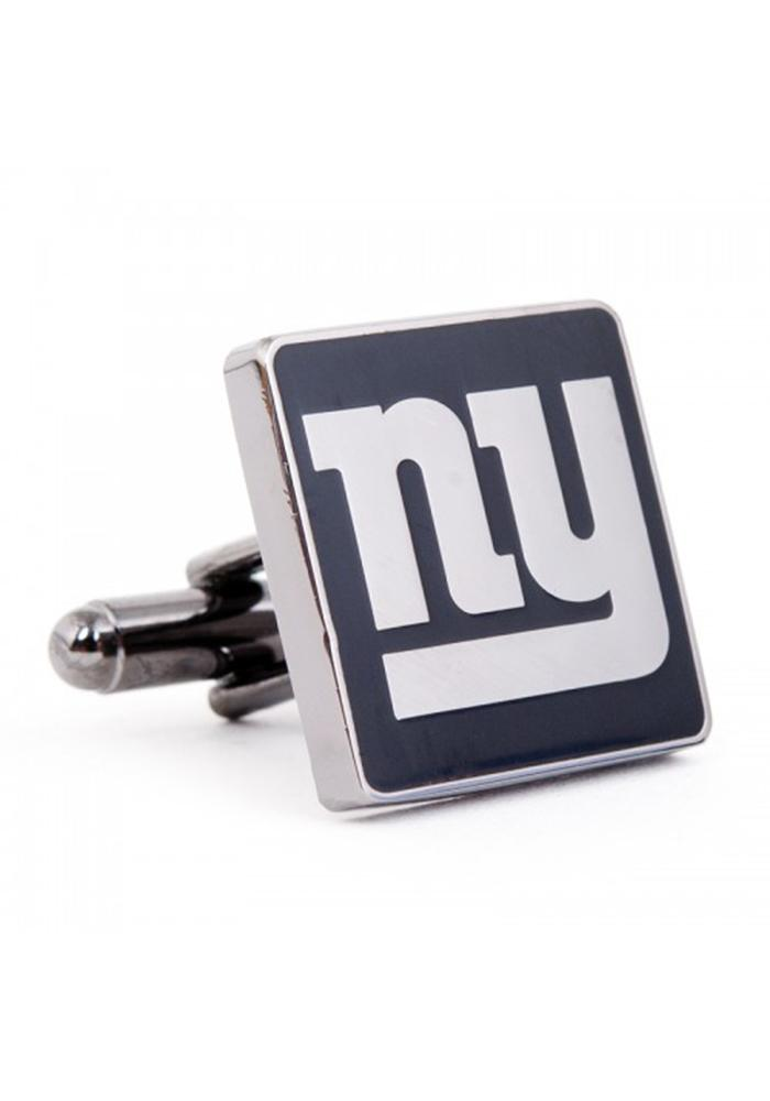New York Giants Silver Plated Mens Cufflinks - Image 1