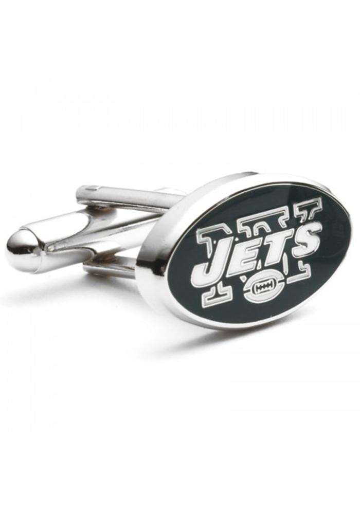 New York Jets Silver Plated Mens Cufflinks - Image 2