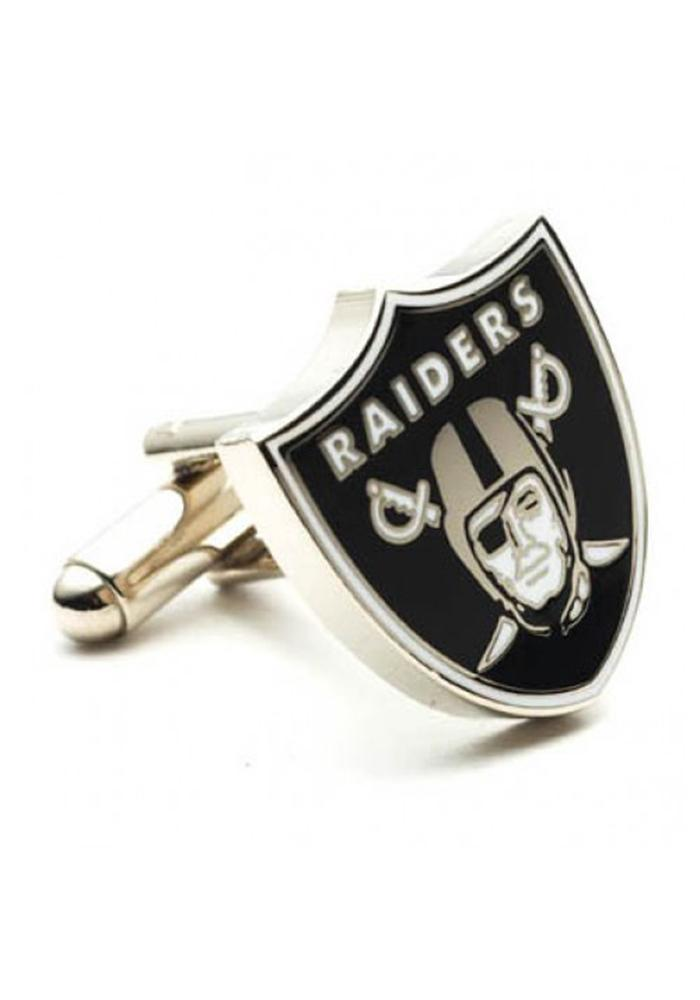 Oakland Raiders Silver Plated Mens Cufflinks - Image 1