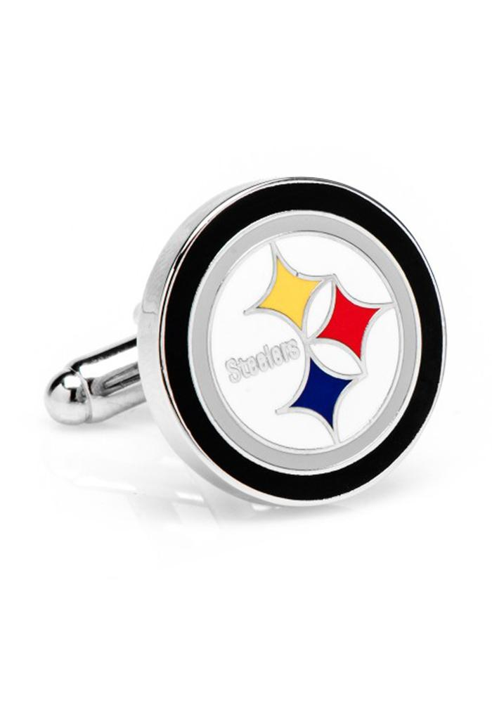Pittsburgh Steelers Silver Plated Mens Cufflinks - Image 1