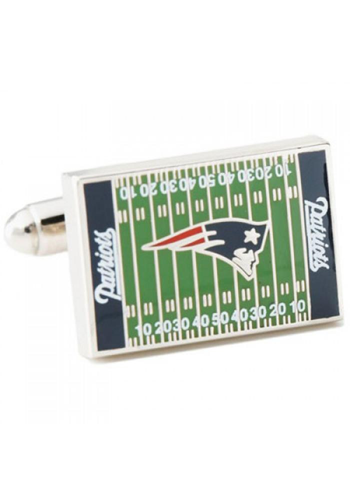 New England Patriots Silver Plated Mens Cufflinks - Image 2