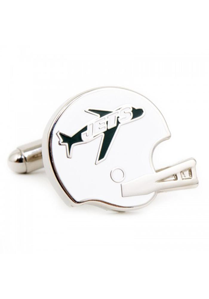 New York Jets Silver Plated Mens Cufflinks - Image 1