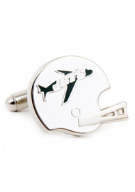 New York Jets Silver Plated Cufflinks - Silver