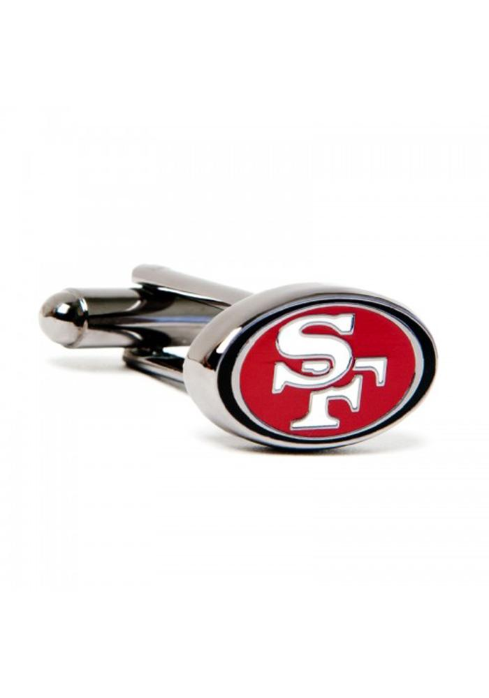 San Francisco 49ers Silver Plated Mens Cufflinks - Image 1