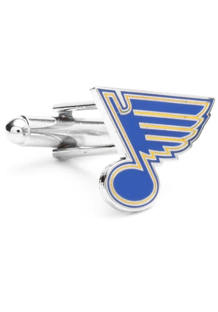 St. Louis Blues Silver Plated Mens Cufflinks - Image 2