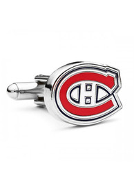 Montreal Canadiens Silver Plated Cufflinks - Silver
