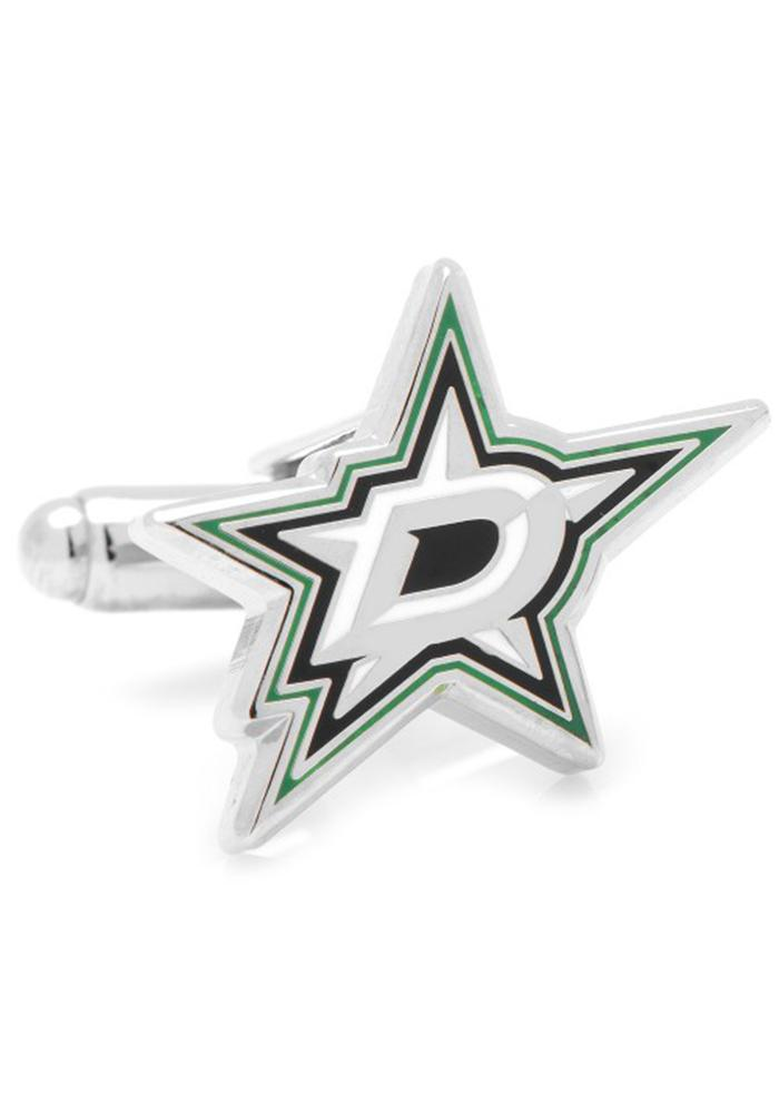 Dallas Stars Silver Plated Mens Cufflinks - Image 1