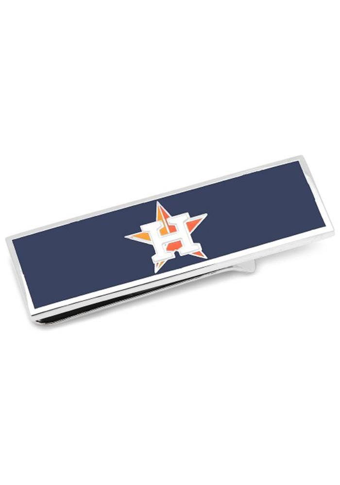 Houston Astros Silver Plated Mens Money Clip - Image 2
