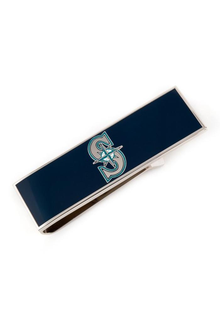 Seattle Mariners Silver Plated Mens Money Clip - Image 1