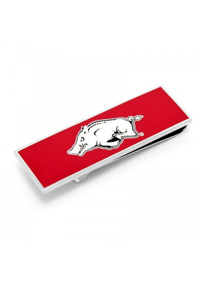 Arkansas Razorbacks Silver Plated Mens Money Clip - Image 2