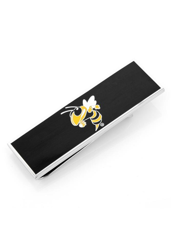 GA Tech Yellow Jackets Silver Plated Mens Money Clip - Image 2
