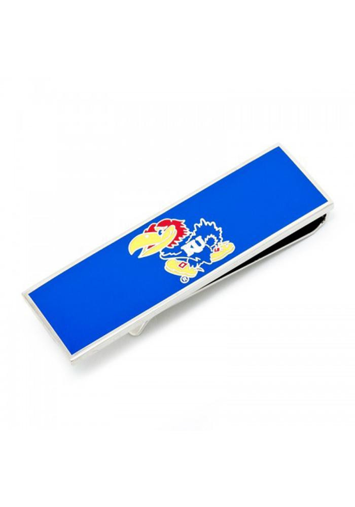 Kansas Jayhawks Silver Plated Mens Money Clip - Image 2