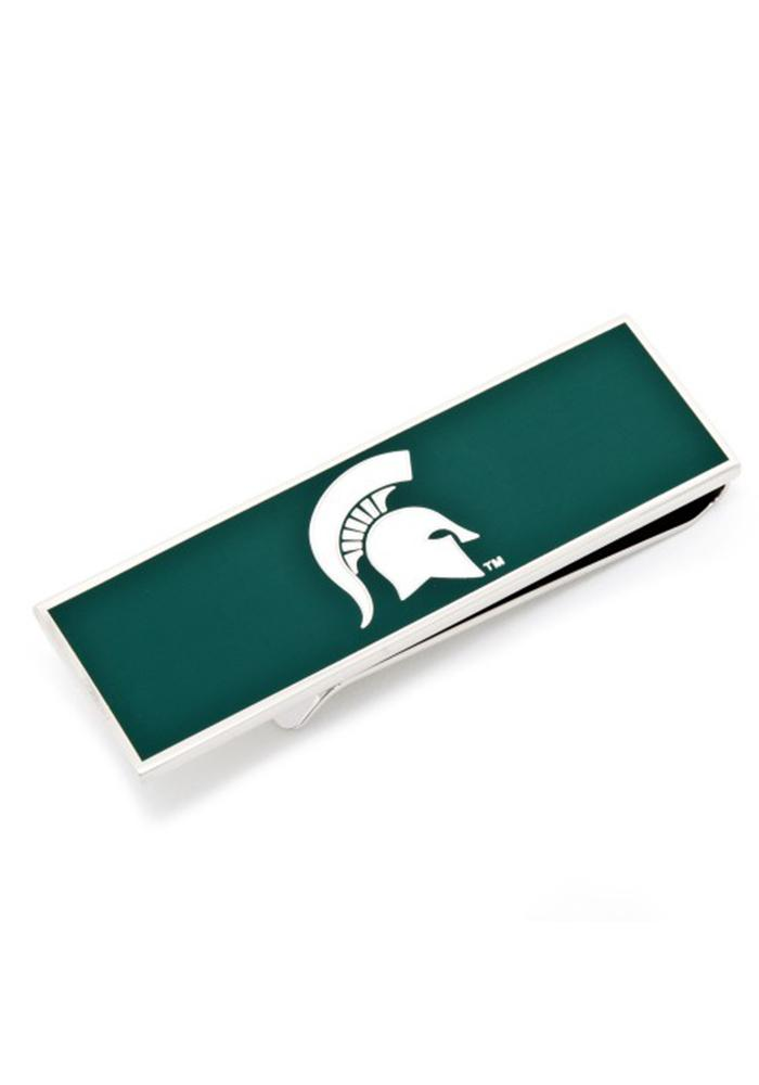 Michigan State Spartans Silver Plated Mens Money Clip - Image 2