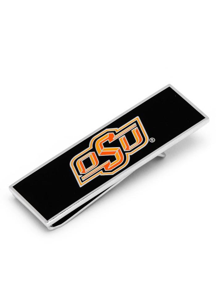 Oklahoma State Cowboys Silver Plated Mens Money Clip - Image 1