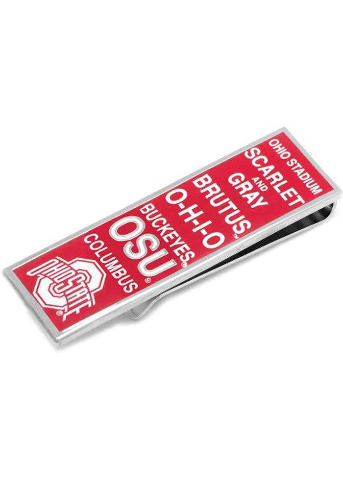 Ohio State Buckeyes Silver Plated Mens Money Clip - Image 2