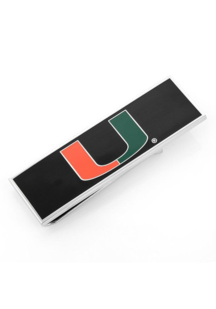 Miami Hurricanes Silver Plated Mens Money Clip - Image 2