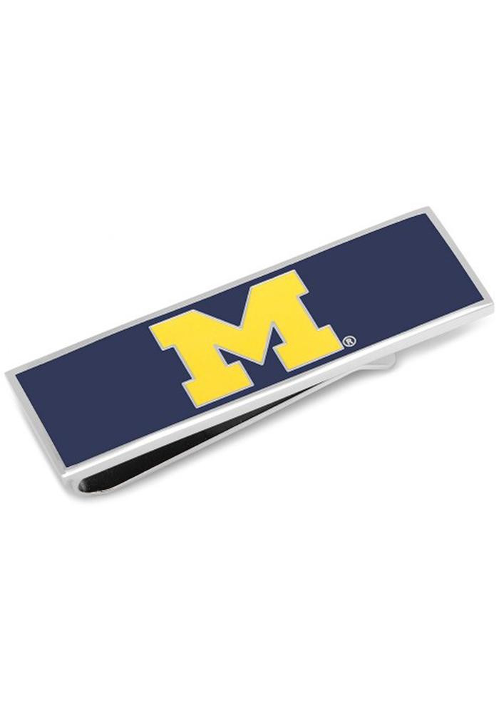 Michigan Wolverines Silver Plated Mens Money Clip - Image 2