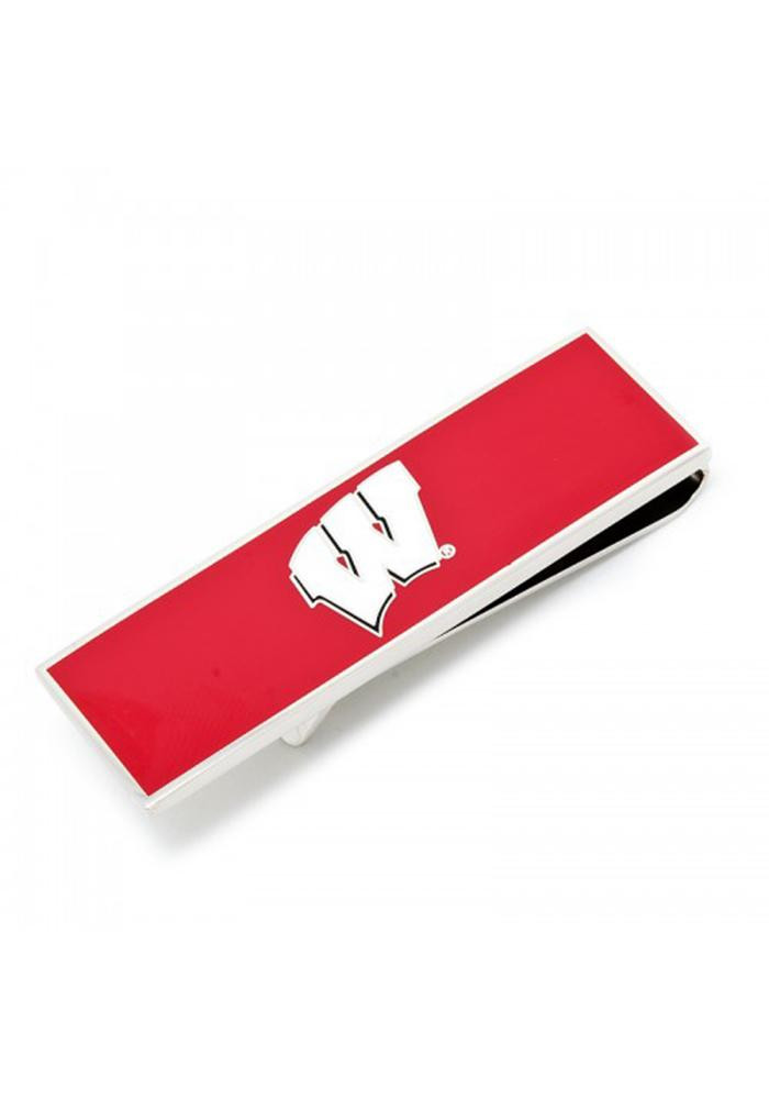 Wisconsin Badgers Silver Plated Mens Money Clip - Image 2