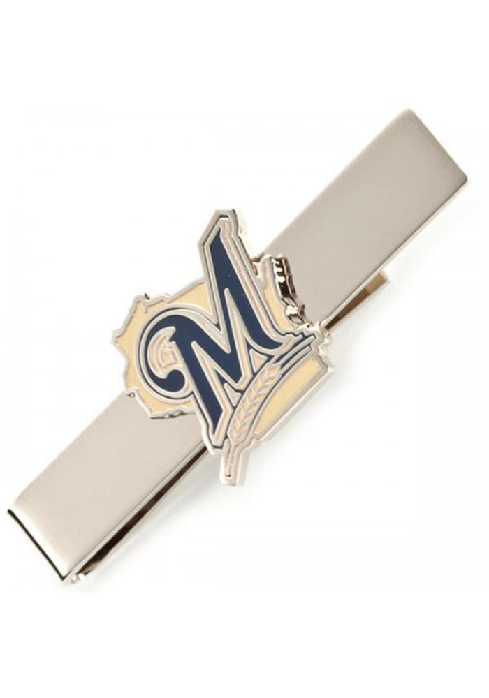 Milwaukee Brewers Silver Plated Mens Tie Tack - Image 2