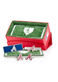 Atlanta Braves 3 Piece Cufflinks - Silver