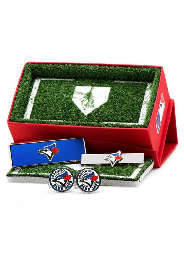 Toronto Blue Jays 3 Piece Mens Cufflinks - Image 2