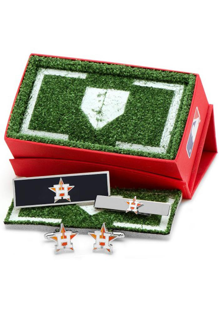 Houston Astros 3 Piece Mens Cufflinks - Image 2