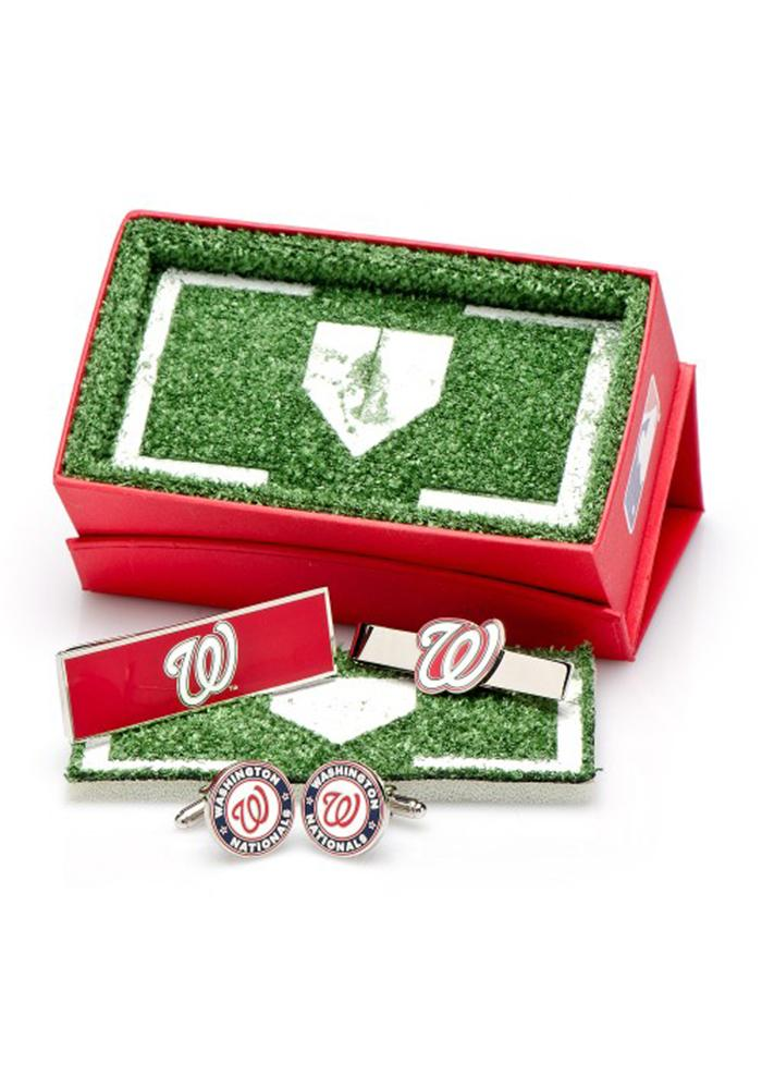 Washington Nationals 3 Piece Mens Cufflinks - Image 1