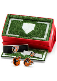Baltimore Orioles 3 Piece Cufflinks - Silver