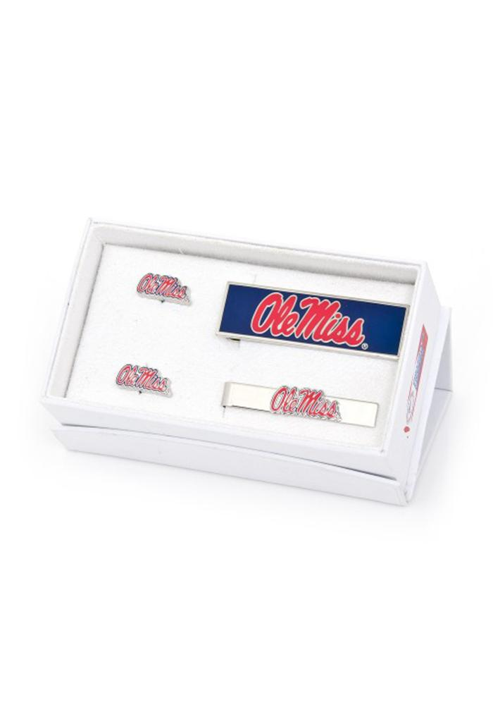 Ole Miss Rebels 3 Piece Mens Cufflinks - Image 2
