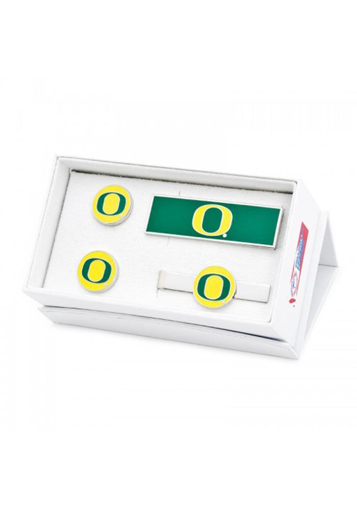 Oregon Ducks 3 Piece Mens Cufflinks - Image 2