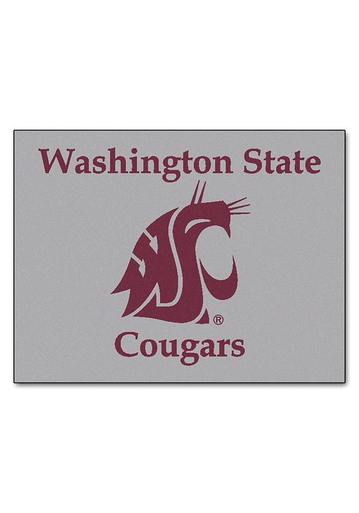 Washington State Cougars 34x45 All Star Interior Rug - Image 1