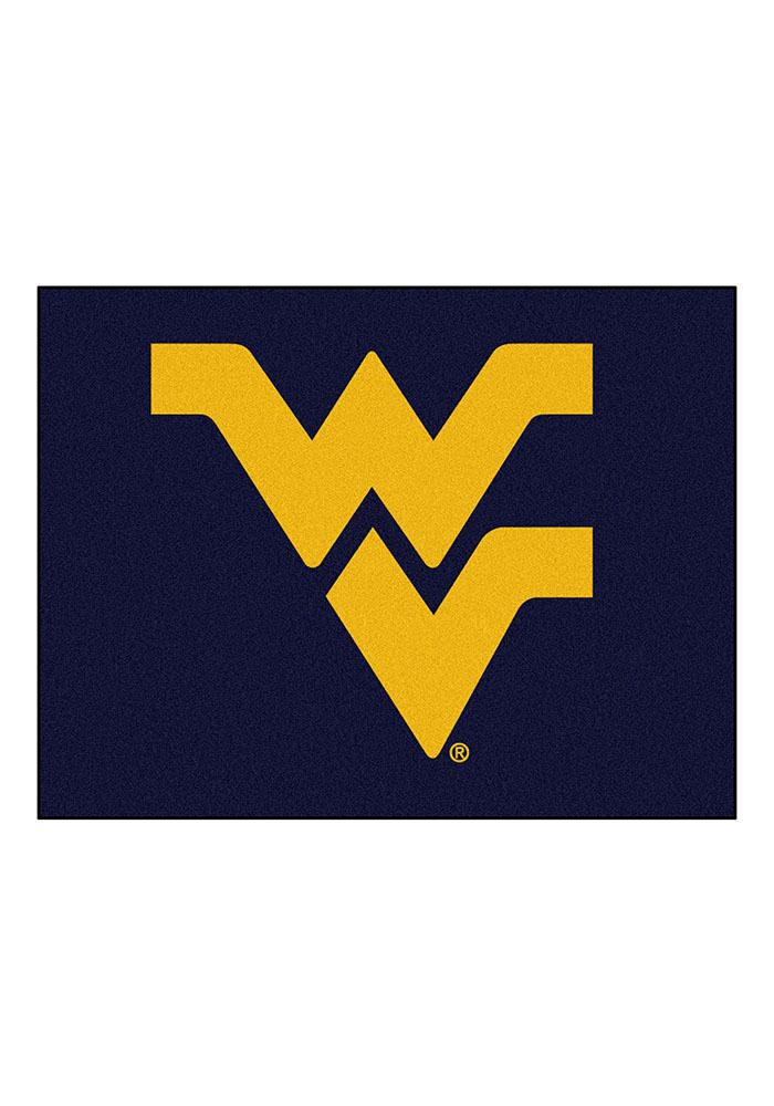 West Virginia Mountaineers 34x45 All Star Interior Rug - Image 1