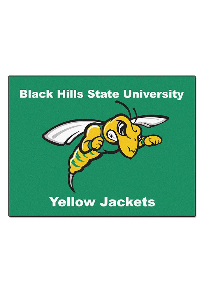 Black Hills State Yellow Jackets 34x45 All Star Interior Rug - Image 1