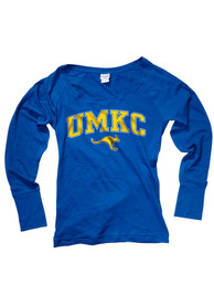 UMKC Roos Juniors Arch Logo Blue Scoop Neck Tee