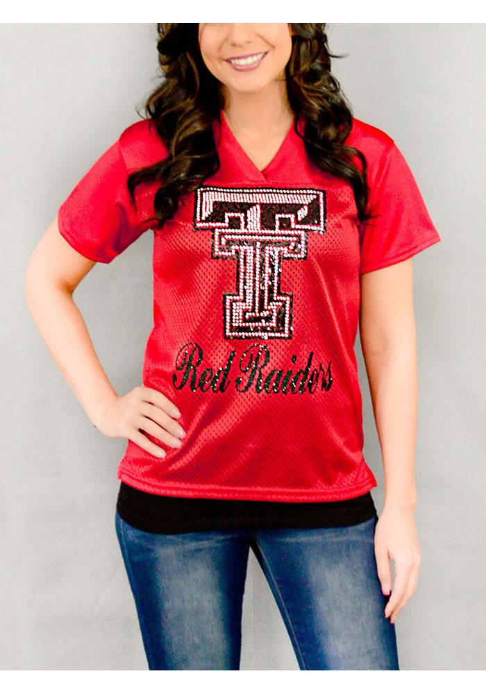 Gameday Couture Texas Tech Red Raiders Womens Red Fashion Football Jersey - Image 1