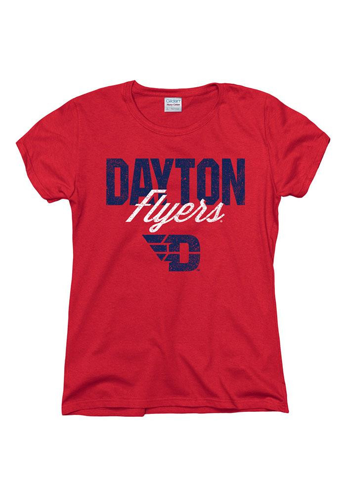 Dayton Flyers Womens Red Chase Short Sleeve T-Shirt - Image 1