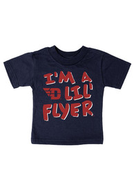 Dayton Flyers Infant Lil Flyer T-Shirt - Navy Blue