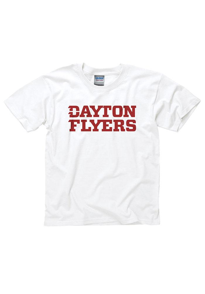 Dayton Flyers Youth White Rally Loud Short Sleeve T-Shirt - Image 1