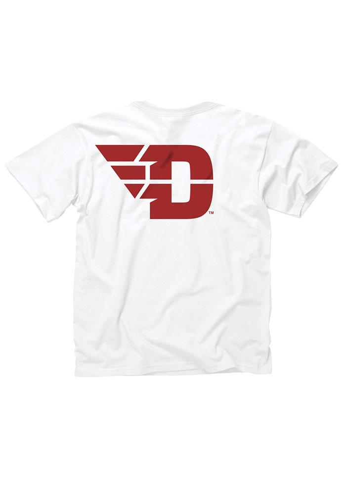 Dayton Flyers Youth White Rally Loud Short Sleeve T-Shirt - Image 2