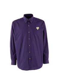 West Chester Golden Rams Antigua Esteem Dress Shirt - Purple
