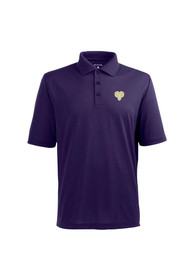 Antigua West Chester Golden Rams Purple Pique Extra Lite Short Sleeve Polo Shirt