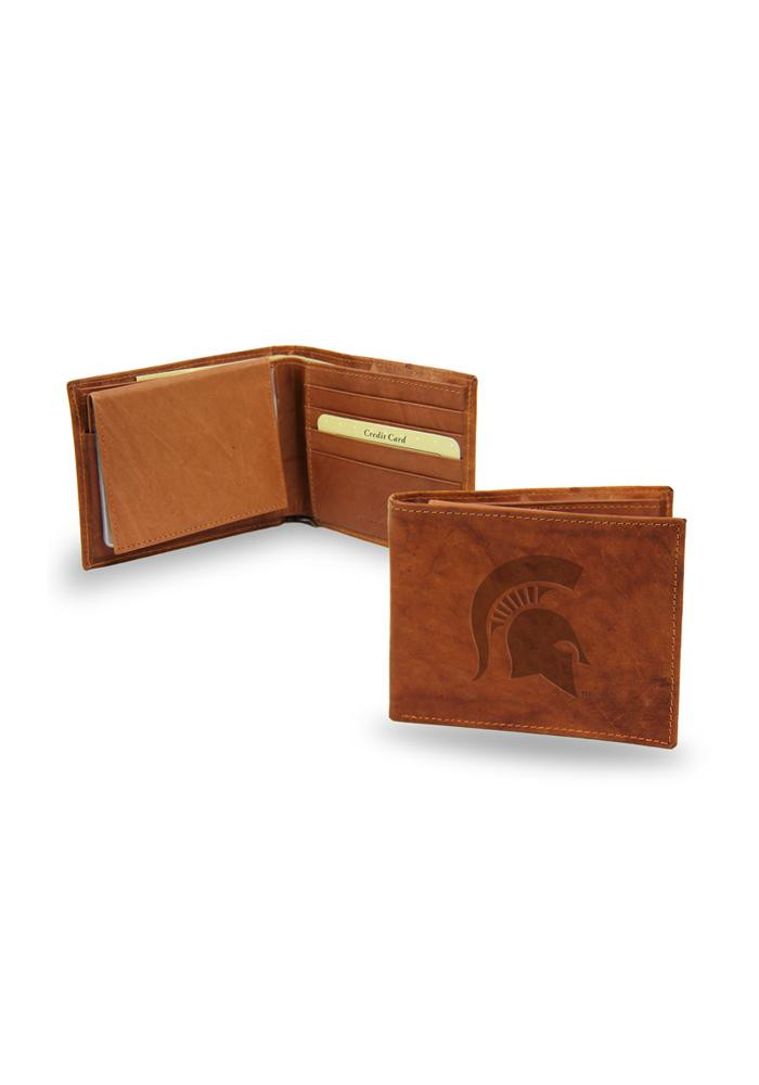 Michigan State Spartans Manmade Leather Mens Bifold Wallet - Image 1