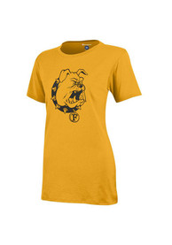 Ferris State Bulldogs Womens Campus Gold T-Shirt