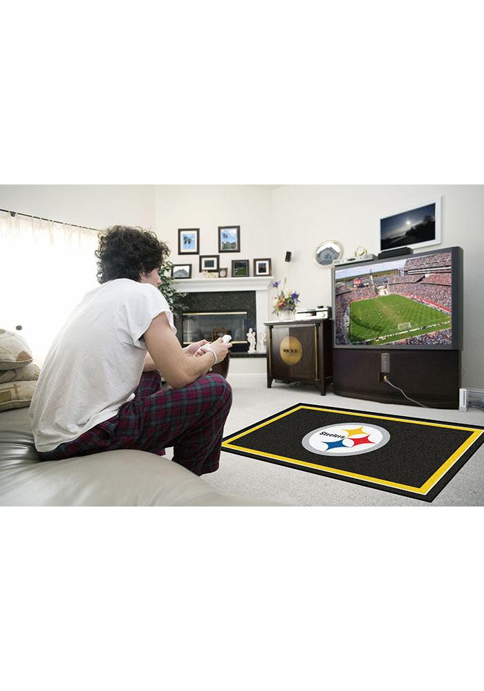Pittsburgh Steelers 4x6 Interior Rug - Image 1