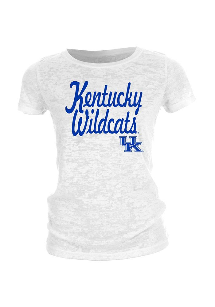 Kentucky Wildcats Juniors White Locked Out Short Sleeve Crew T-Shirt - Image 1