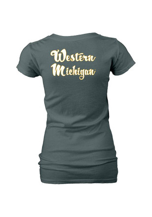 WMU Broncos Womens Grey Unaided V-Neck